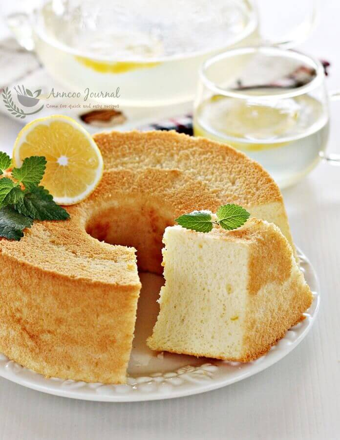 Honey Lemon Chiffon Cake Recipe