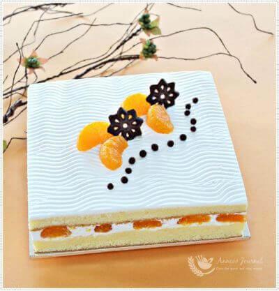 Mandarin Orange Cream Cake 橘子鲜奶油蛋糕
