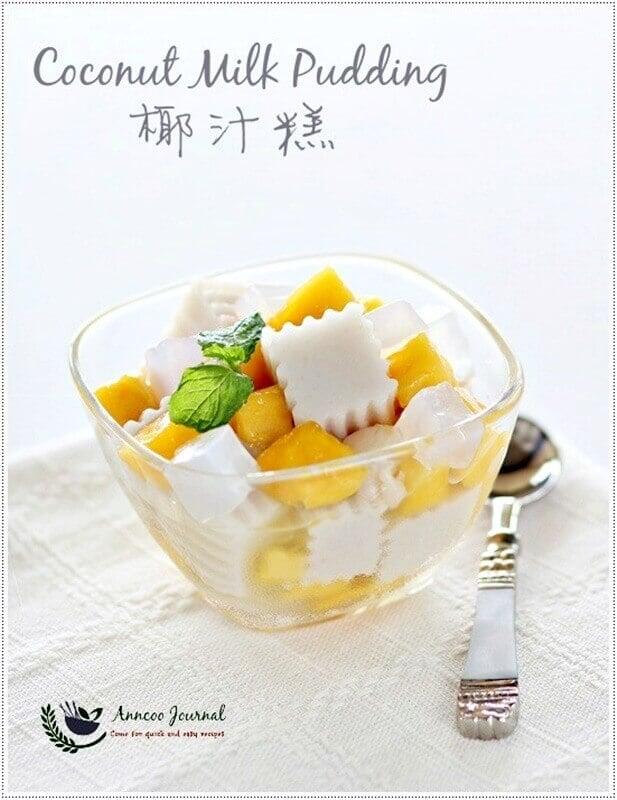 coconut milk pudding
