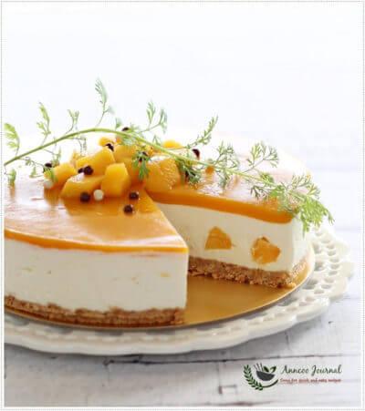 No-Bake Mango Yogurt Cheesecake 免烤芒果优格芝士蛋糕