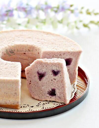 Purple Sweet Potato Chiffon Cake 紫薯戚风蛋糕
