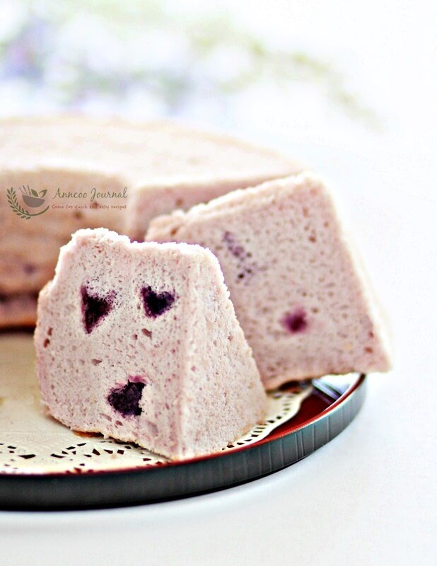 Purple Sweet Potato Chiffon Cake Recipe