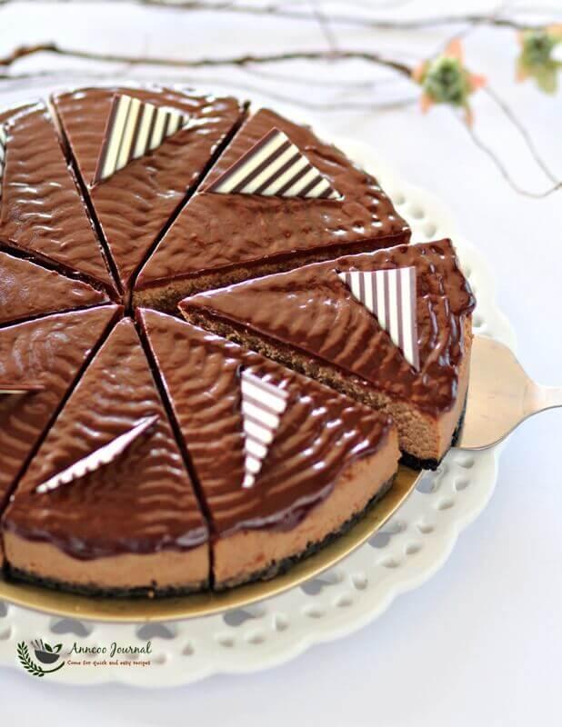 Chocolate Coffee Cheesecake 巧克力咖啡芝士蛋糕 - Anncoo ...