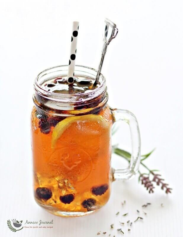 lavender fruit iced tea