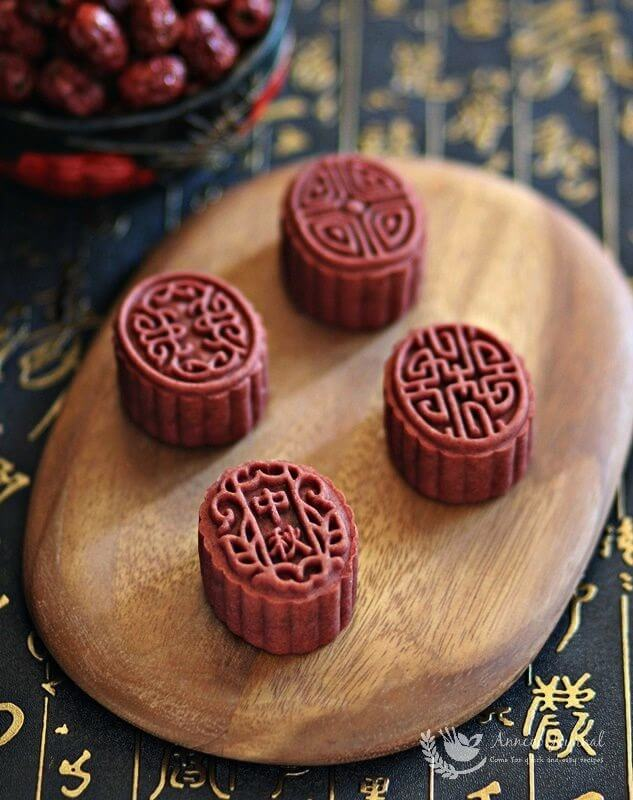 red yeast red date mooncakes 026