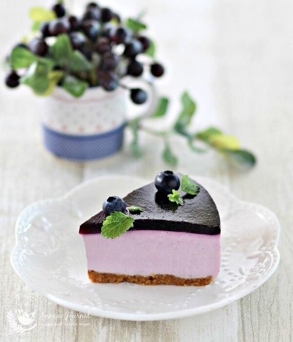 no-bake blueberry yogurt cheesecake 078