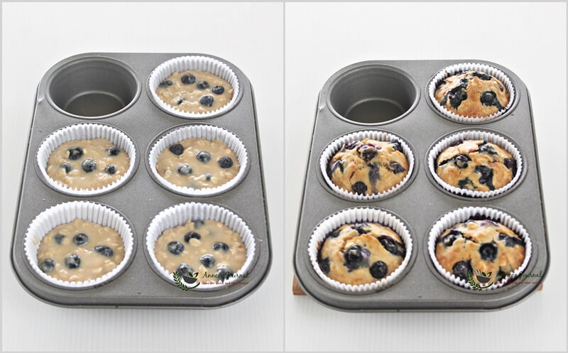 egg white blueberry oat muffins 1a