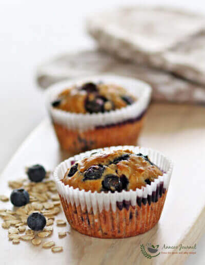 Blueberry Oat Muffins 蓝莓燕麦玛芬