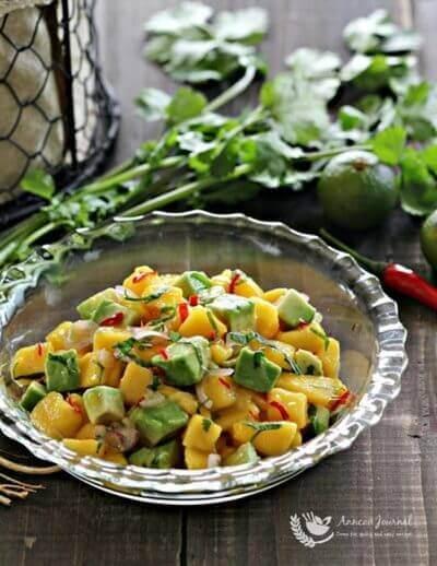Mango Avocado Salsa 芒果鄂梨莎莎酱