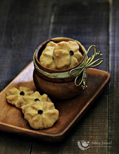 Eggless Butter Cookies 牛油曲奇{无蛋版} CNY 2016