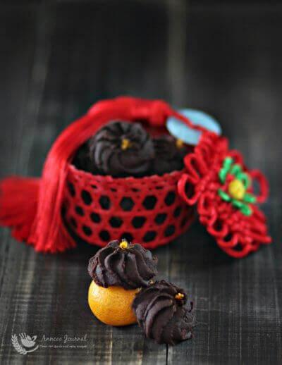 Orange Chocolate Cookies 橙味巧克力饼 CNY 2016