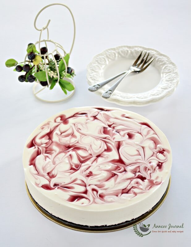 cherry cheesecake (no-bake) 087