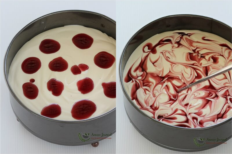 cherry cheesecake (no-bake) - 1c