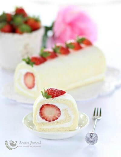 Egg White Roll Cake 蛋白蛋糕卷