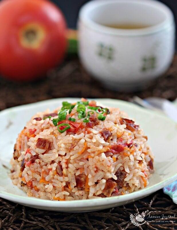 bak kwa tomato rice 060