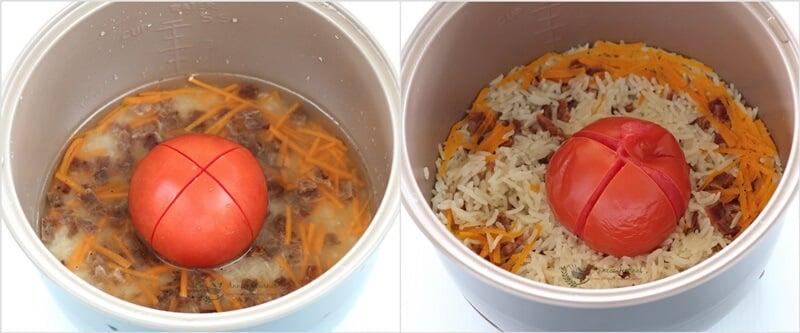 bak kwa tomato rice 1a