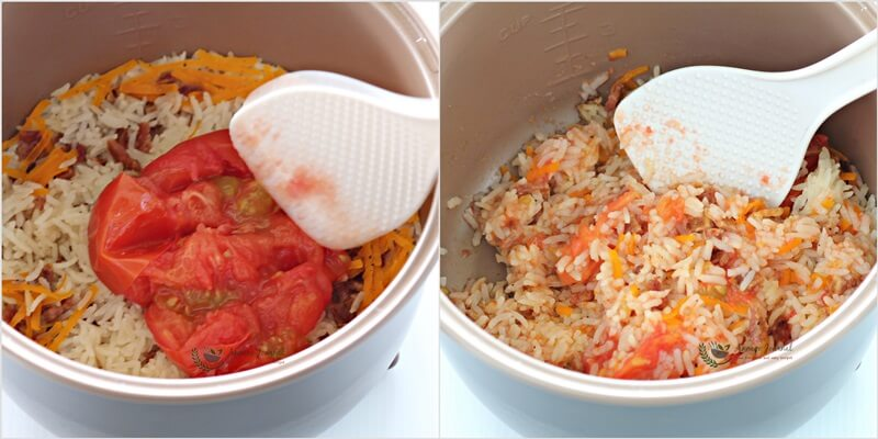 bak kwa tomato rice 1b