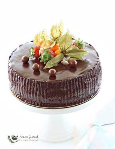 Chocolate Ganache Cake 巧克力伽纳彻蛋糕