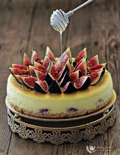 Fig Honey Lemon Cheesecake 无花果蜂蜜柠檬芝士蛋糕