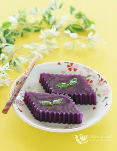 Purple Sweet Potato Yokan 紫薯羊羹