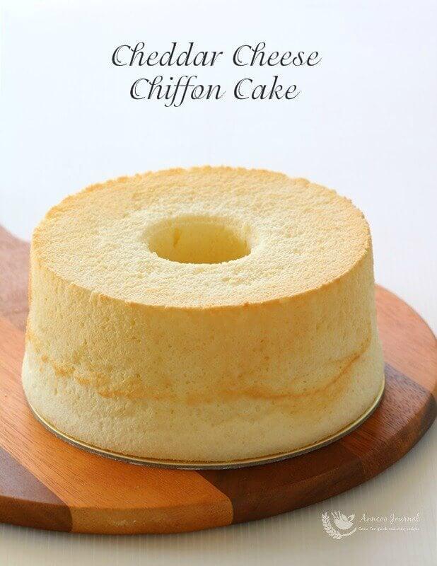 cheddar cheese chiffon cake