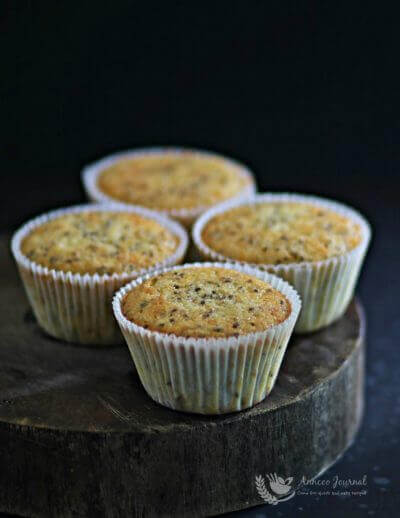 Chia Seeds, Lemon & Orange Cupcakes 黑籽子,柠檬香橙杯子蛋糕