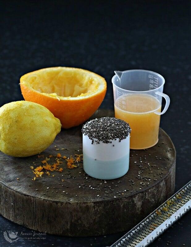 chia seeds, lemon & orange cupcakes