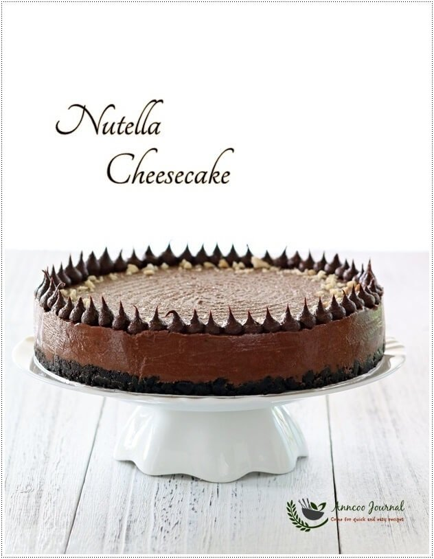 easy nutella cheesecake