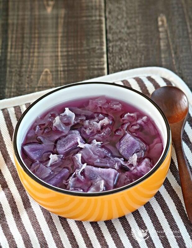 purple sweet potato soup 108