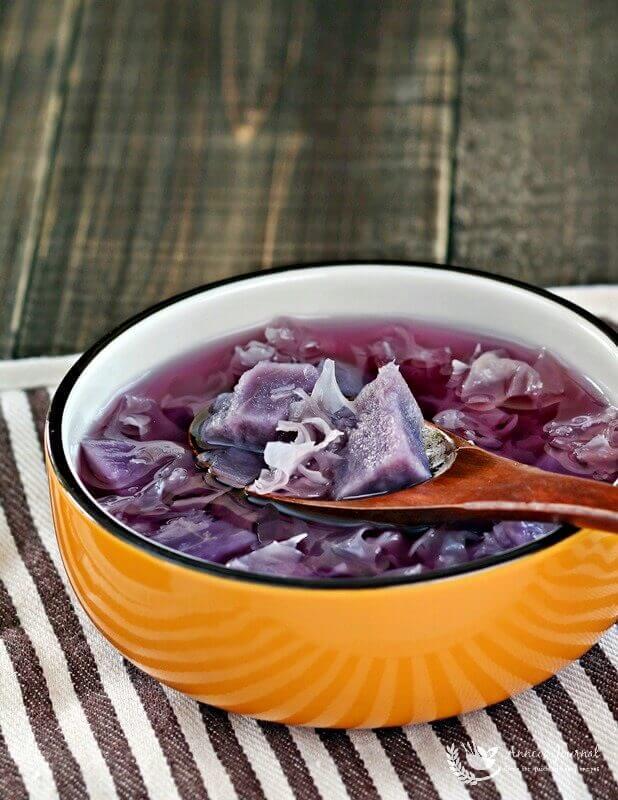 purple sweet potato soup 121