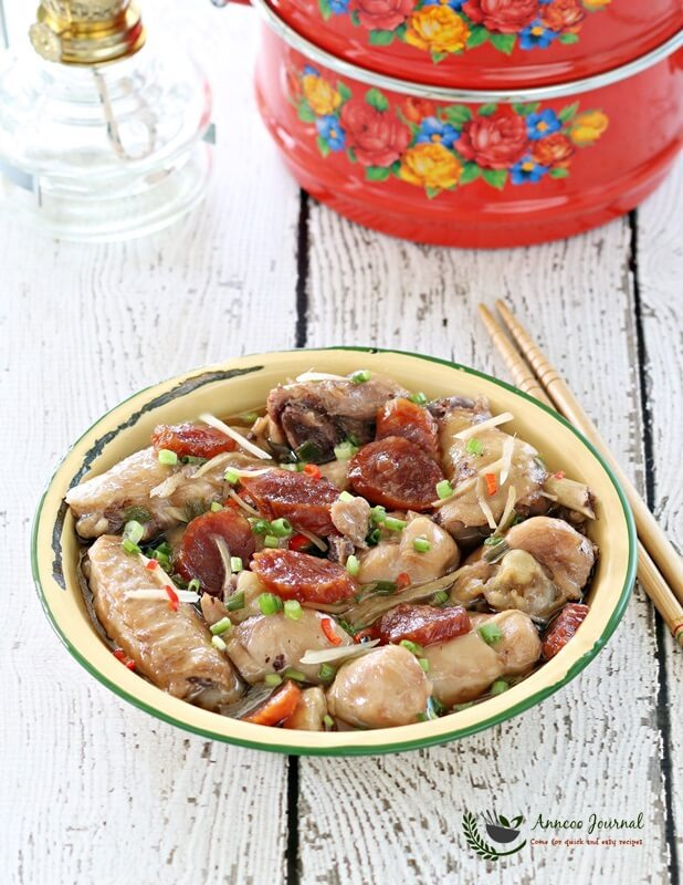 steamed chicken with sausage 013