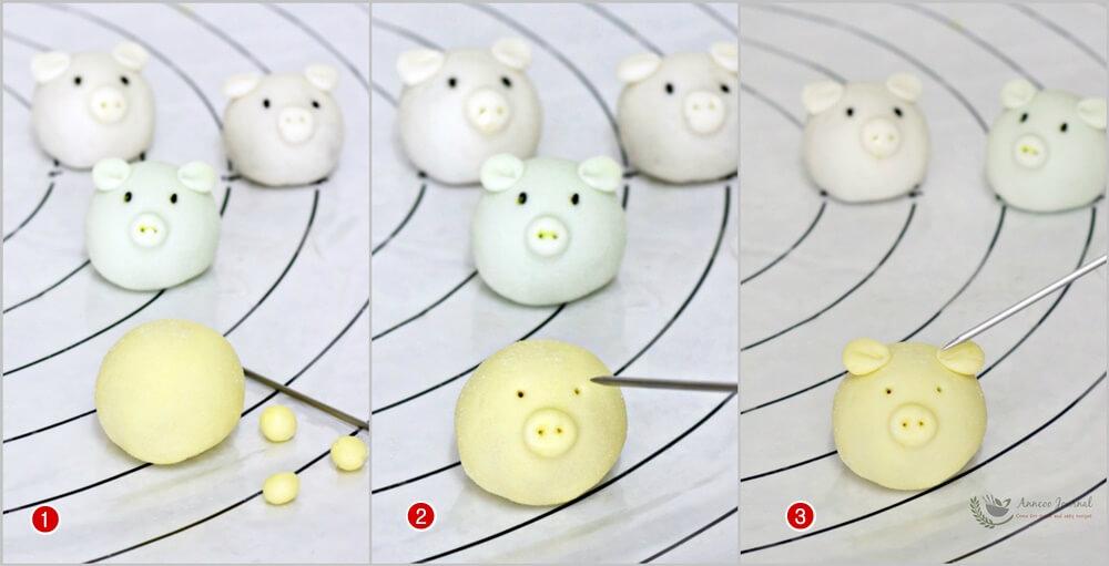 handmade snowskin piggies 1a