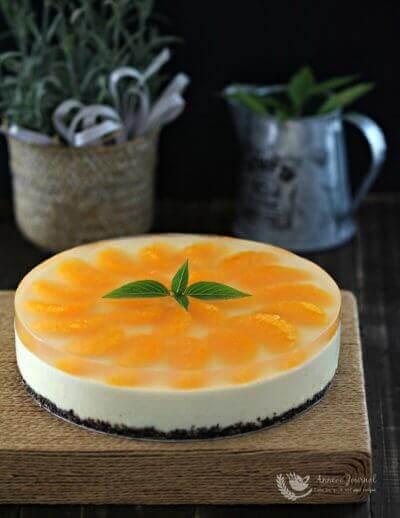 No-Bake Orange Cheesecake 免烤香橙格芝士蛋糕