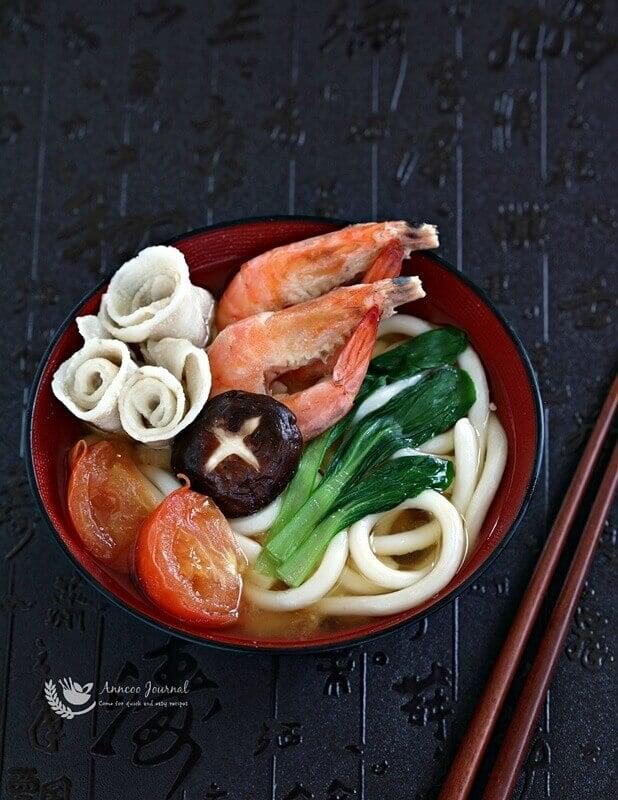 tomato udon soup