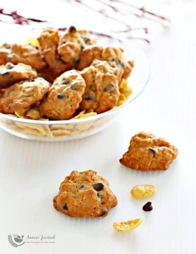 Cornflake Chocolate Chip Cookies 玉米片巧克力粒曲奇