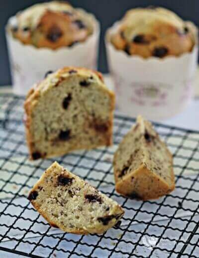 Banana Chocolate Chip Muffins 香蕉巧克力粒玛芬