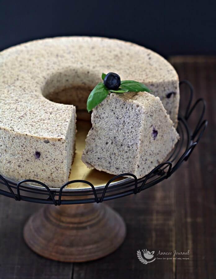Anncoo Journal Blueberry Chiffon Cake