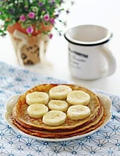 Gluten-free Banana Pancakes 香蕉松饼