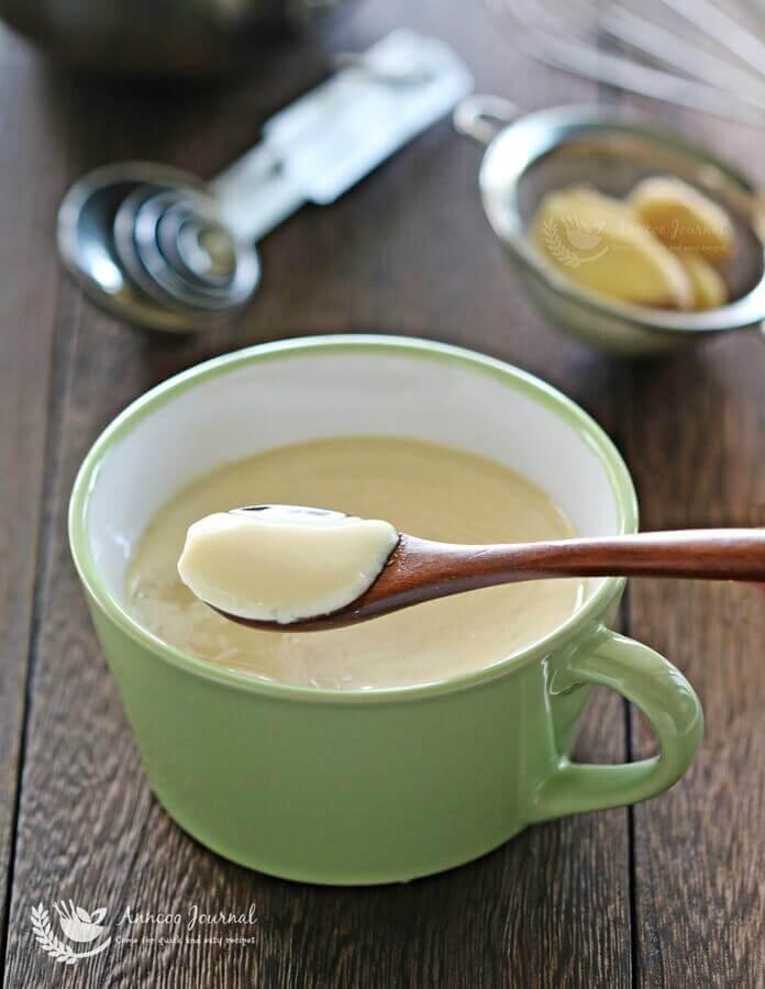 steamed egg white milk pudding