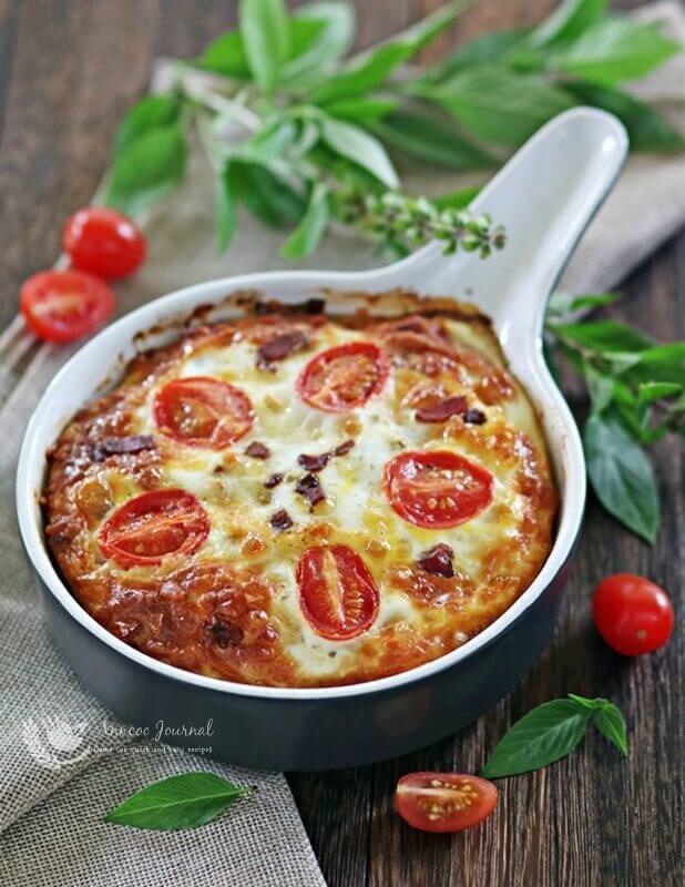 baked tomato egg cake