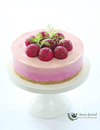 Red Dragon Fruit Cheesecake 火龙果芝士蛋糕