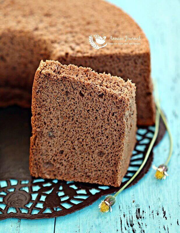 cocoa banana chiffon cake