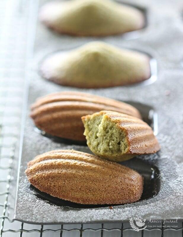 matcha madeleines