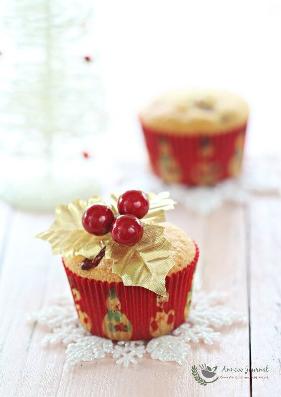 cranberry butter cupcakes