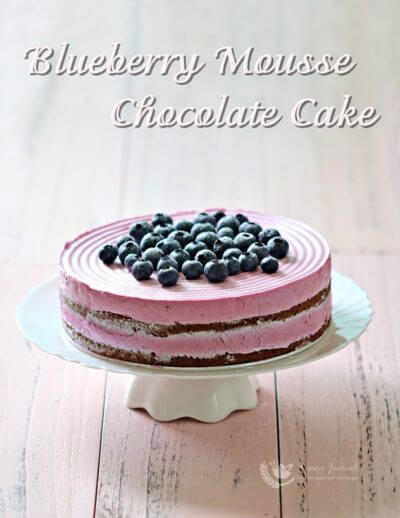 Blueberry Mousse Chocolate Cake 蓝莓慕斯巧克力蛋糕