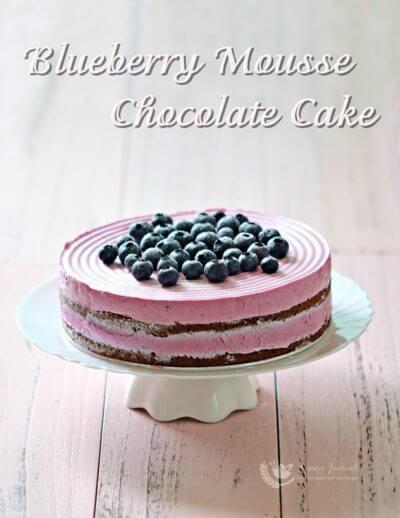 Blueberry Mousse Chocolate Cake 蓝莓慕斯巧克力蛋糕