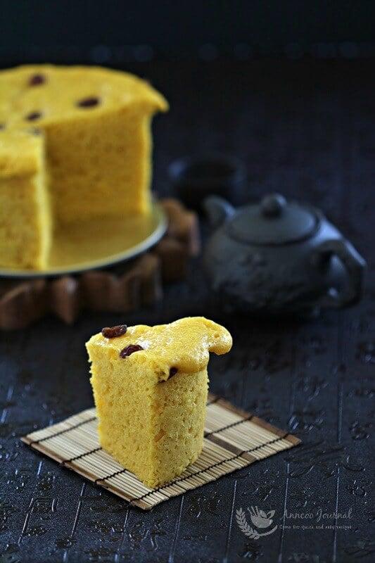 steamed chinese pumpkin cake