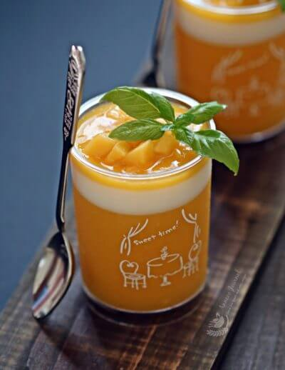 Healthy and Easy Mango Pudding 芒果果冻