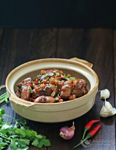 Stir Fry Chicken with salted Fish 干炒咸鱼鸡肉