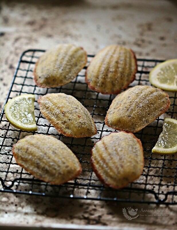 lemon chia seed madeleines